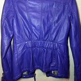 Vintage purple faux leather jacket, euro, soft, 1980s club jacket Free S&H - VegasheatX