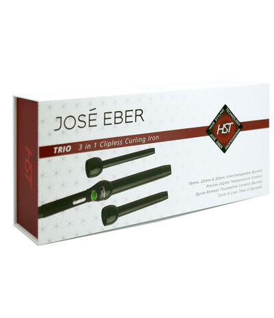 José Eber HST TRIO 3 in 1 Clipless Curling Iron