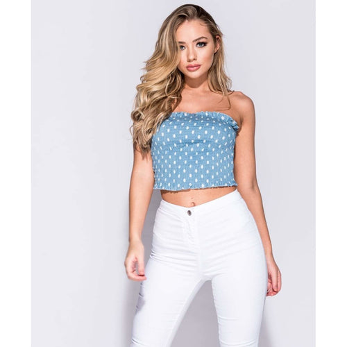 Brittany Polka Dot Crop Top