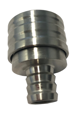 Flushout Nozzle - Suit Universal Tap - 12mm Barb - Stainless Steel