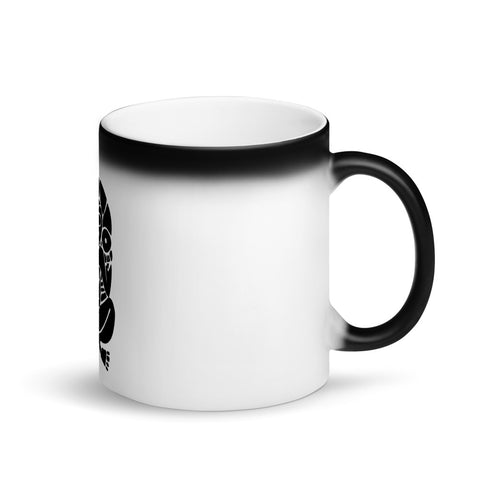 Atabey Mother Earth Taino Matte Black & White Mug Accessory