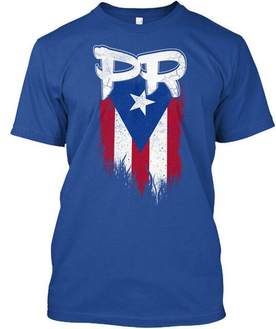 Mens Male Puerto Rico Flag Pr - FITTED Premium Tee T-Shirt