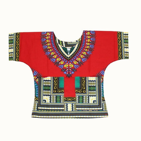 Traditional African Clothing Print Dashiki T-shirt For Boys and Girls