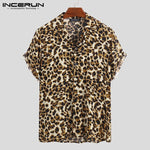 Leopard Print Men Short Sleeve African Collection
