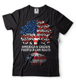 Puerto Rico T-shirt American Grown Puerto Rican Proud Puerto Rican T-shirt Tee shirt