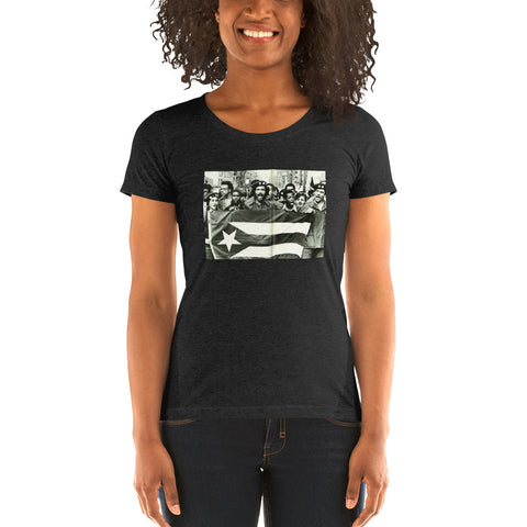 Young Lords Puerto Rican Flag Ladies Tee Shirt T-Shirt