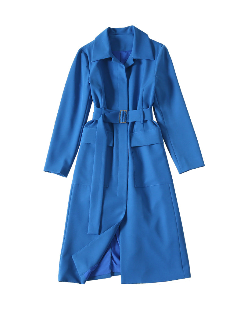 Kate Belted Utility Coat in Dark Blue