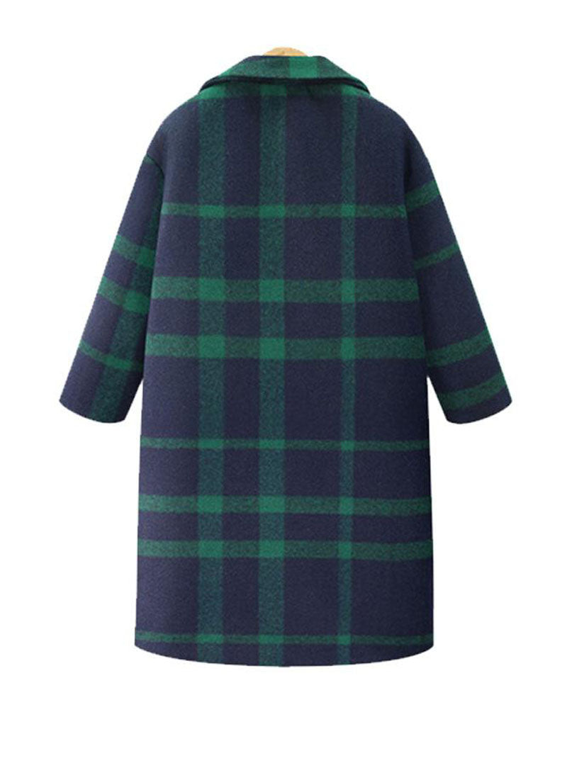 Meghan Inspired Green Tartan Cocoon Coat