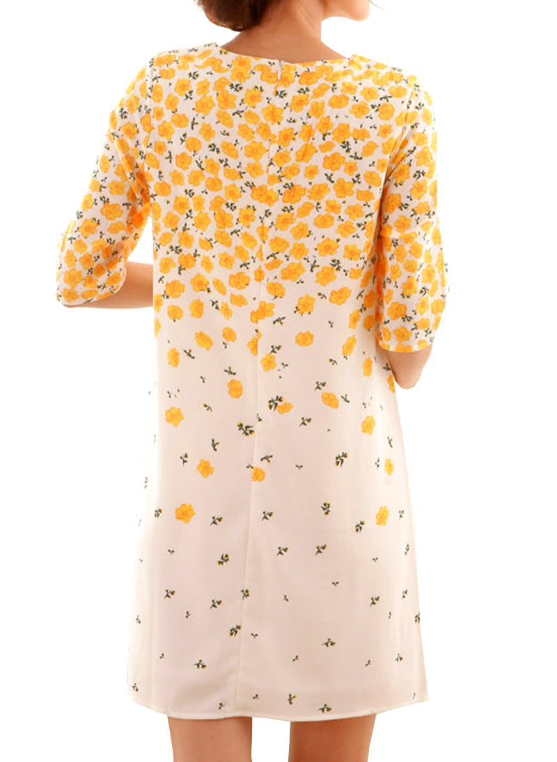 Kate Buttercup Floral Print Shift Maternity Dress
