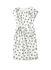 Kate Polka Dot Print Ruffled Midi Dress