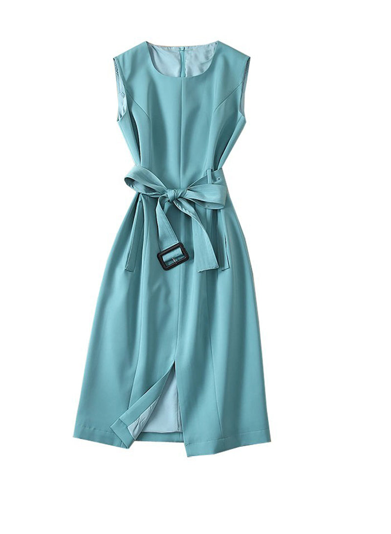 Queen Letizia Sleeveless Belted Sheath Dress in Mint