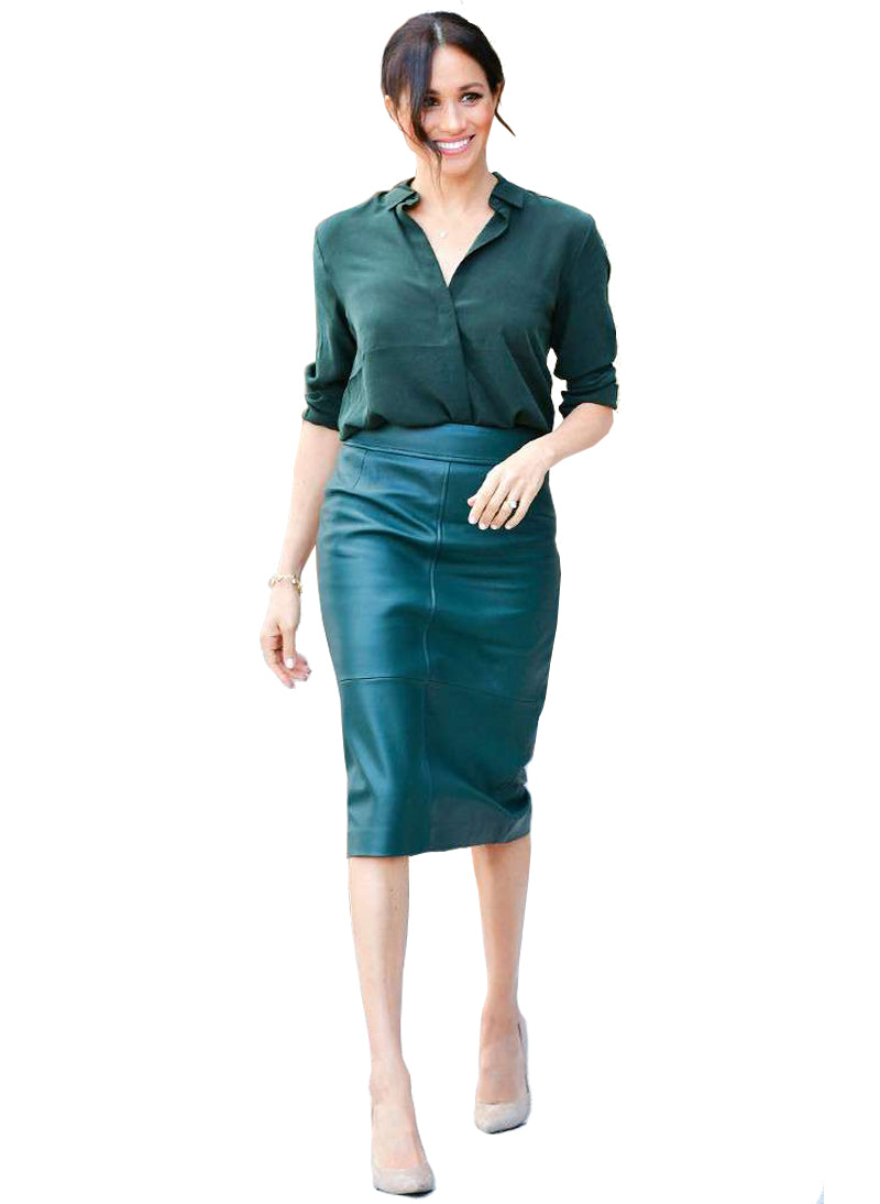 Meghan Straight Fit Shirt & Panel Pencil Skirt Set