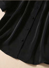 Princess Mary Black Blouse & Pleated Midi Skirt Co-ords