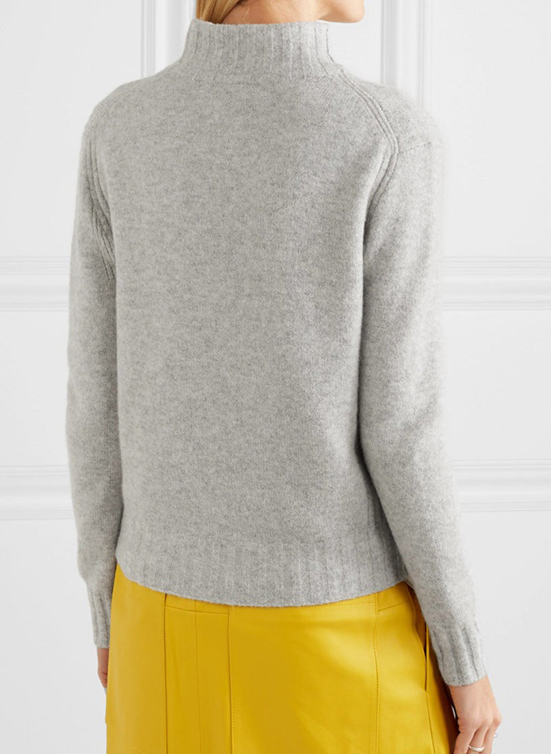 Kate Mockneck Knit Sweater in Supersoft Yarn