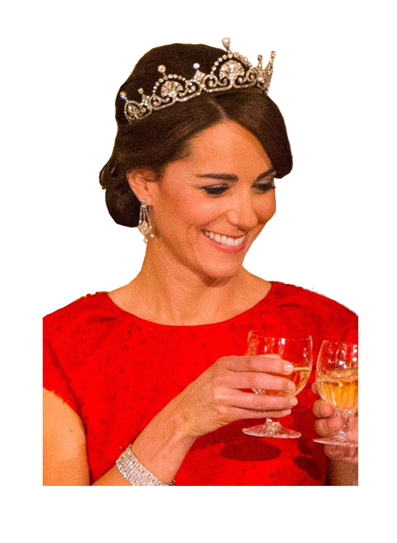 Kate Middleton Inspired Lotus Flower Tiara Crown