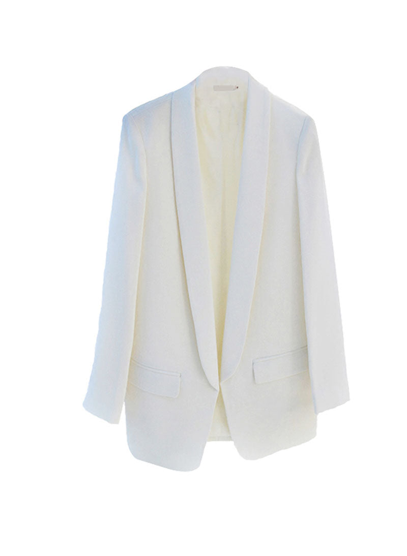 Princess Mary Classic Shaw-collar White Blazer
