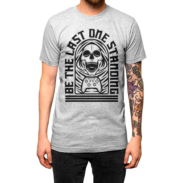 Be The Last One Standing'	Shirt Athletic Grey Mens