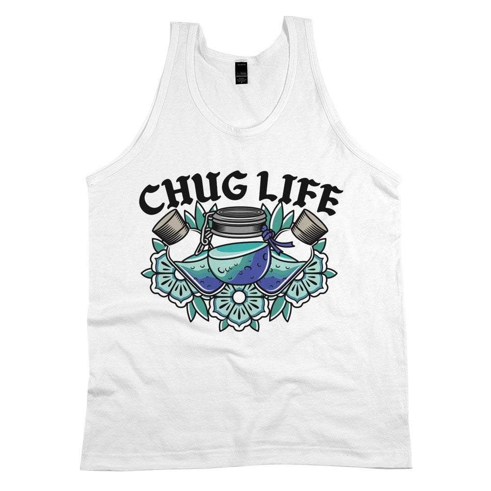 Chug Life'	Tank Top White Mens