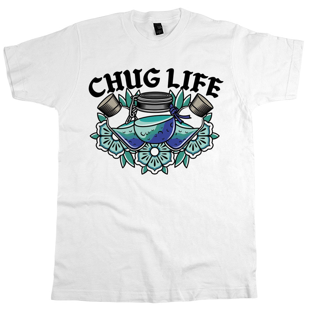 Chug Life'	T-shirt White Mens