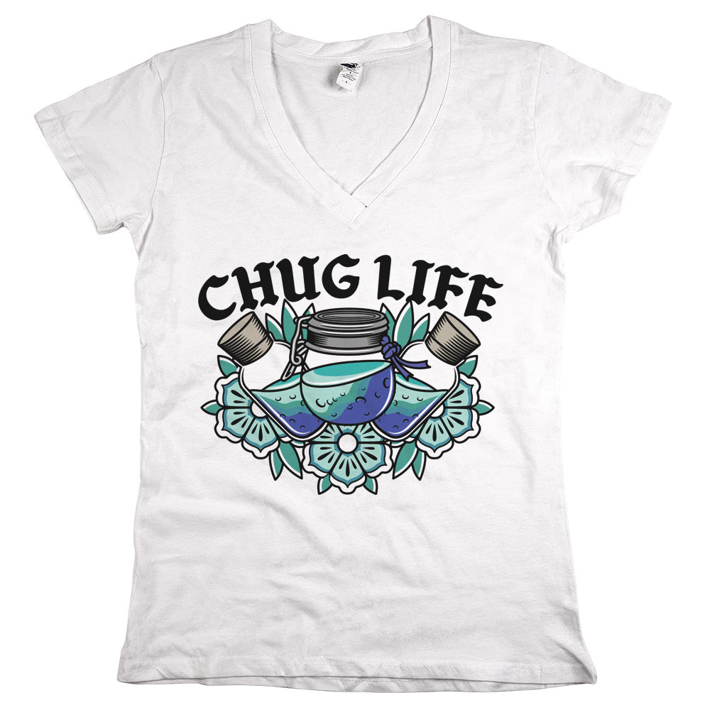 Chug Life'	T-shirt White Womens