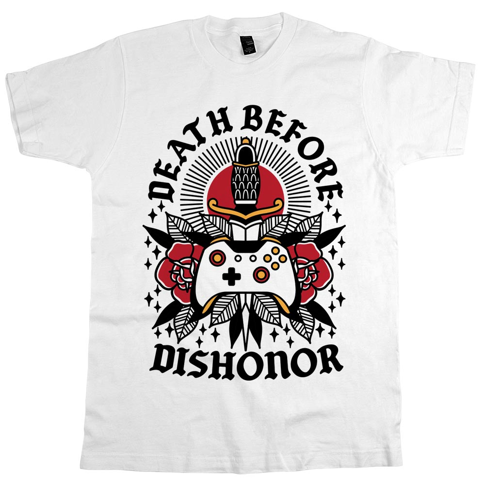 Death Before Dishonor'	T-shirt White