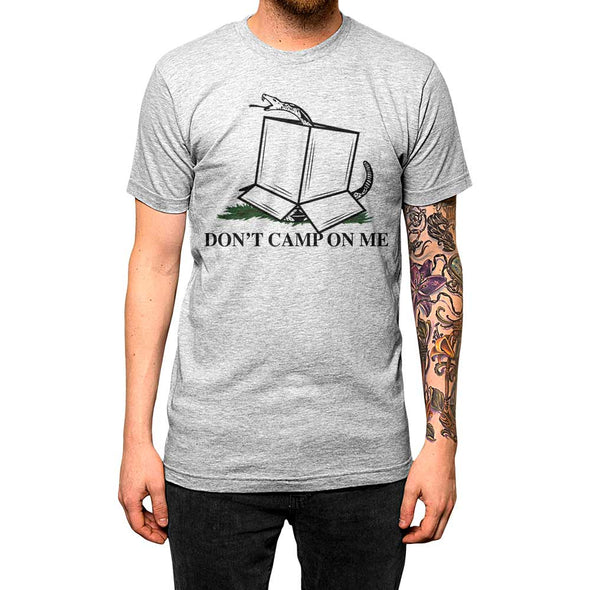 Don't Camp On Me'	Shirt Athletic Grey Mens