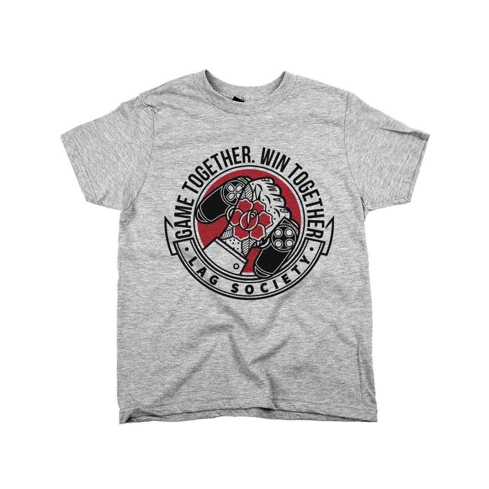 Game Together Win Together'	Shirt Athletic Grey Kids