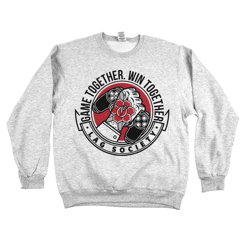 Game Together Win Together'	Sweatshirt Grey