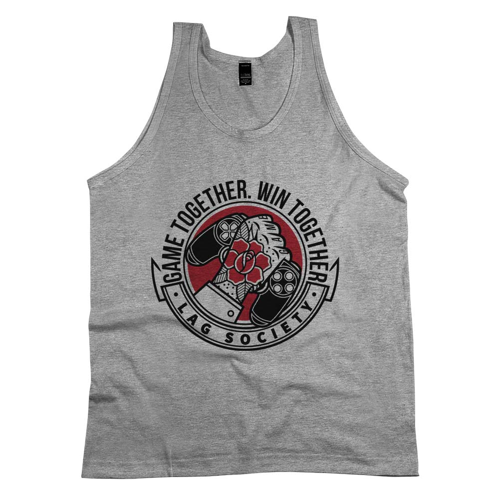 Game Together Win Together'	Tank Top Athletic Grey