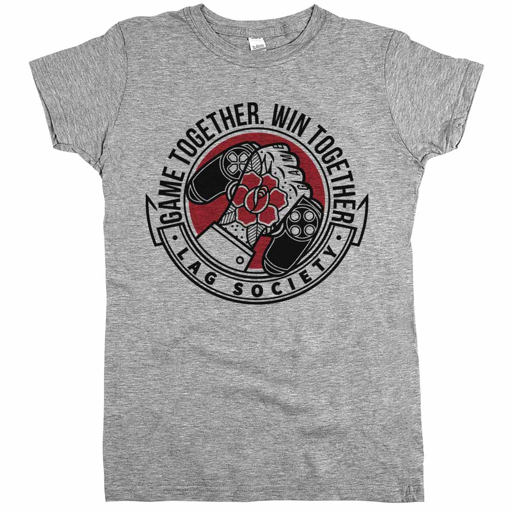 Game Together Win Together'	Shirt Athletic Grey Womens