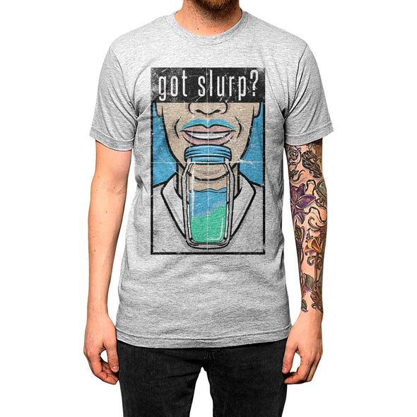 Got Slurp?'	Shirt Athletic Grey Mens