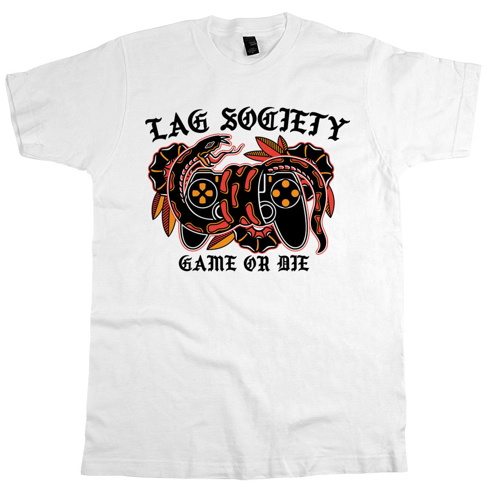 Lag Society Game or Die'	T-shirt White Mens