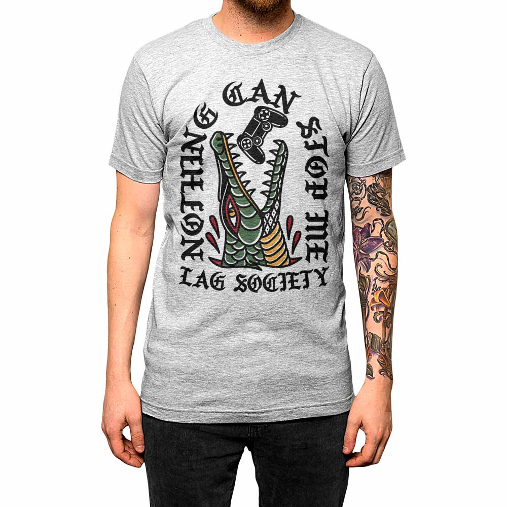 Nothing Can Stop Me'	Shirt Athletic Grey Mens