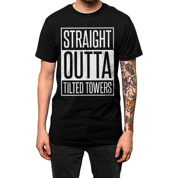 Straight Outta Tilted Towers	Shirt Black Mens
