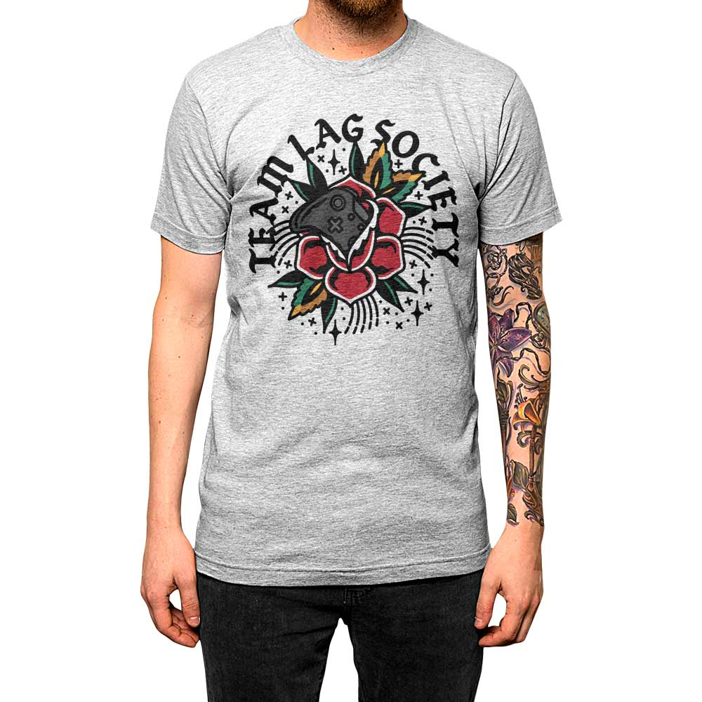 Team Lag Flower'	Shirt Athletic Grey Mens