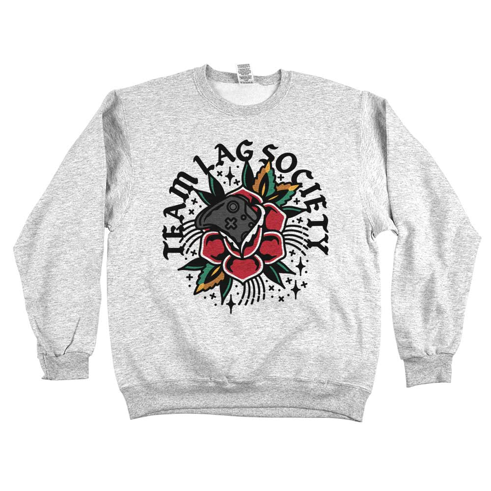 Team Lag Flower'	Sweatshirt Grey