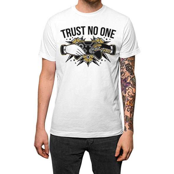 Trust No One'	T-shirt White Mens