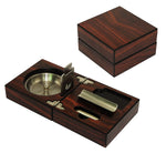 Royal wood cigar set travel box