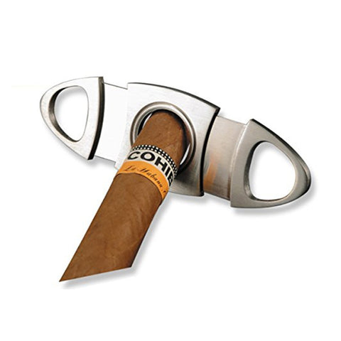 Cigar Cutter Stainless Steel Double Blade Guillotine Scissors