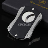 Band Double Guillotine Cigar Cutter Scissor w 2 Super Sharp Stainless Steel Blades