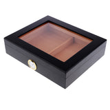 Cedar Wood Cigar Humidor W/ Hygrometer Travel Portable 20 Cigars Case