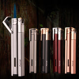Windproof Metal Cigar Lighter 1300 C Butane Lighter