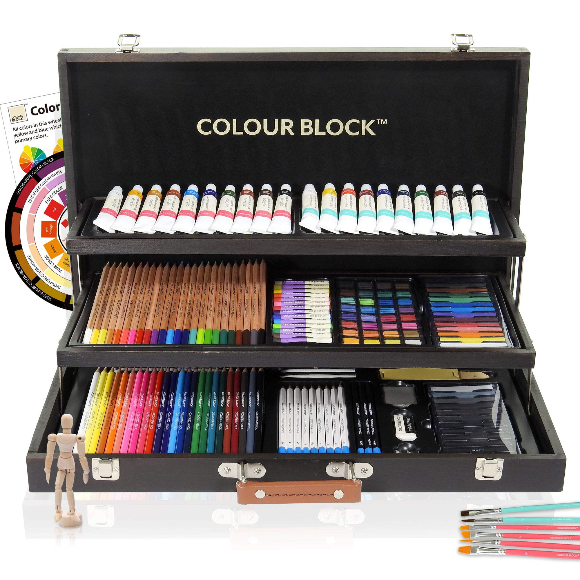 Pencils Crayon Charcoal Artist Soft Pastel Wooden Nontoxic Sketching Drawing Set