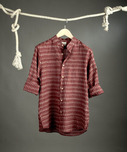 Brown Ikat Shirt Size XL/42 & XXL/44