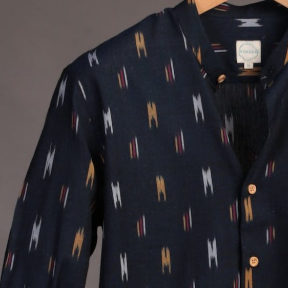 Navy Blue Ikat Shirt