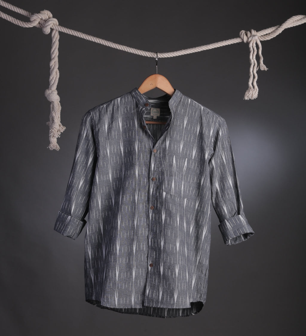 Gray Ikat Casual shirt Size S/36 & L/40