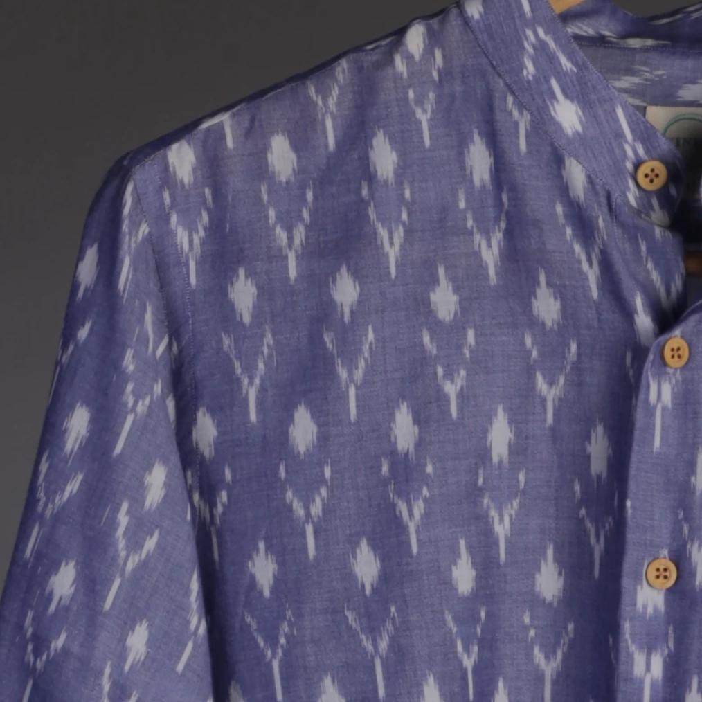 Purple Ikat Shirt