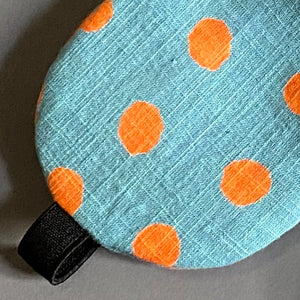 Polka Print Eye Mask with Cover
