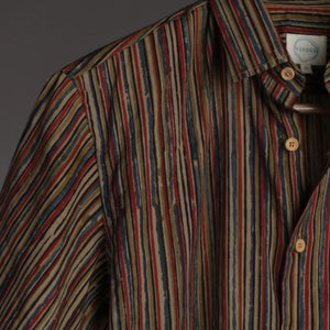 Striped Multicolored Kalamkari Shirt