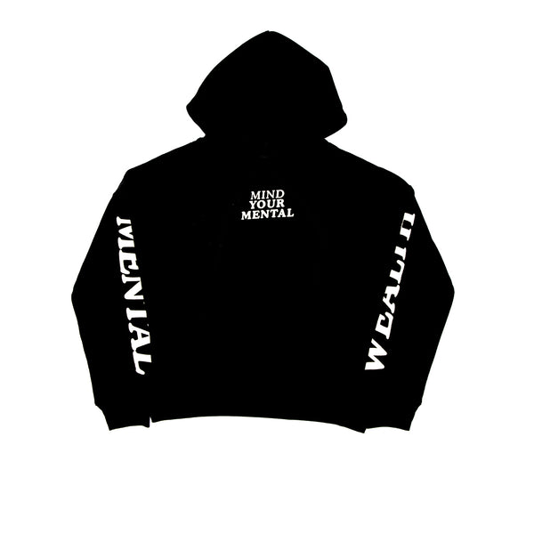 Mind Your Mental Hoodie Black
